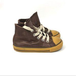 Converse CTAS Hi Top Leather Brown Gum Infant 7